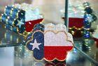JUDITH LEIBER PATRIOTIC scalloped Texas Flag Shoulder Bag Swarovski Crystals