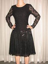 Cocktailkleid Abendkleid Festkleid schwarz Gr. 36-38 Spitze schwarz v. Chou Chou