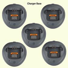 5x Cargador rápido de base para Motorola CP160 CP040 PR400 CP200D CP200XLS Radio