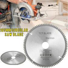 185mm 80 Teeth TCT Circular Saw Disc Blade Bore Adaptor Ring Wood Ripping Cut