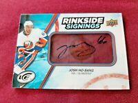 2017-18 UD Ice Rinkside Signings Auto Josh Ho-Sang #RS-JH New York Islanders