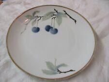 Vintage Germany Bavaria Rosenthal Pate Sur Pate Dessert Plate Blue Cherries