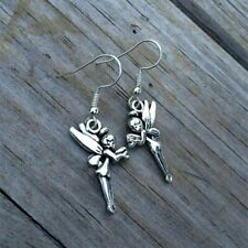 Silver Fairy Dangle Earrings  Tinkerbell Pixie Magical Charm  Sassie  GIFT BOXED