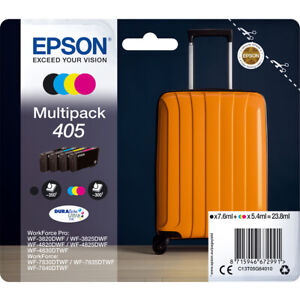 Epson 405 Multi Pack Original OEM Inkjet Cartridges (Set of 4) CMYK T05G640