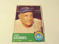 1963 TOPPS CASEY STENGEL  # 233   PSA  4  New York Mets