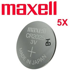 5 2 X Maxell CR 2025 Lithium Coin Cell Button 3V Battery Batteries Made in Japan