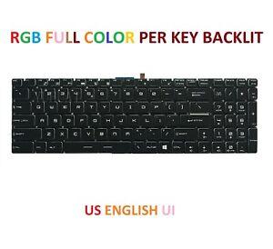 Keyboard for MSI GE75 GE65 Series Laptop  US English UI  Backlit