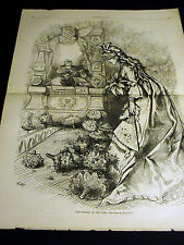 "Thomas Nast AMERICA ""Fairest of the Fair"" MISS COLUMBIA 1876 Lg Folio Engraving"