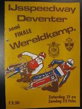 Programmaboekje IJsspeedway Deventer Semi Finale WK 21/22 februari 1981
