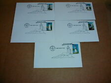 Lot Pacific Lighthouses Stamp First Day Cover Cachet St George Crescent City &