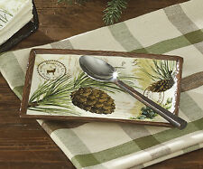 "Walk in the Woods Spoon Rest by Park Designs, Stunning Forest Motif, 5""x7.25"""