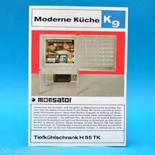 Tiefkühlschrank H 55 TK Monsator DDR 1970 | Prospekt Werbung DEWAG K9 G