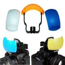 3 Color Pop-Up Flash Diffuser For Canon Nikon Camera DSLR SLR