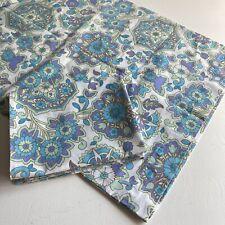 More details for pair of vintage flower pattern pillowcases c. 1970s unlabelled flowerpower retro