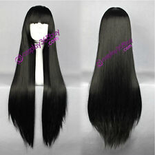 Inuyasha Kikyou cosplay wig Hell Girl Enma Ai cosplay wig black straight wig