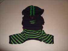Dog Navy and Green Hoodie Outfit Monkey Daze Inc NEW Size XS
