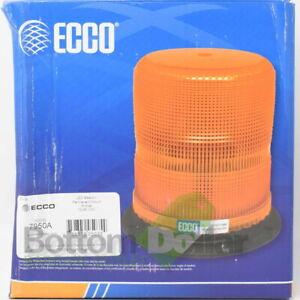 """ECCO 7950A 7"""" 12-48 VDC Permanent Mount Flashing Pulse II LED Beacon Light Amber"""
