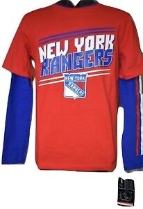 Youth NHL Team Apparel New York Rangers 2 Shirt Combo Pack NWT S, M, L, XL