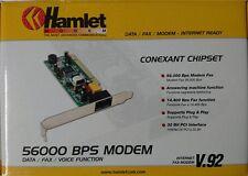"""56000 F/s MODEM PCI con fax """"faxtalk"""" Amleto hv92 testata buono di"""