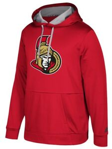"Ottawa Senators Adidas NHL Men's ""Checking"" Pullover Hooded Sweatshirt"