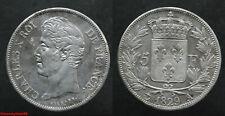 France ! Ecu de 5 francs CHARLES X, 1829 A, en TTB