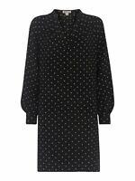 WHISTLES Spot Print Shift Dress Black and White Polka Dot UK4 RRP149 BNWT