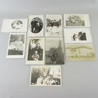 Lot of 10 REAL PHOTO (RPPC) Postcards  people women frontier