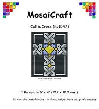 MosaiCraft Pixel Craft Mosaic Art Kit 'Celtic Cross' Pixelhobby