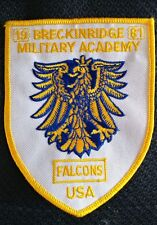 VINTAGE 1981 BRECKINRIDGE COLORADO MILITARY ACADEMY FALCONS USA PATCH NEW LOOK