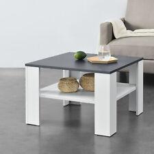 Couchtisch Weiß/Dunkelgrau Tisch Beistelltisch Wohnzimmertisch Sofatisch Möbel
