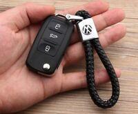 Lederband Schlüsselanhänger Volkswagen VW Golf Passat Touran Sharan Polo