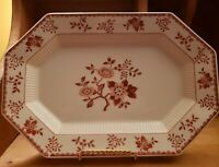 NIKKO JAPAN BITTERSWEET SERVING PLATTER  CLASSIC COLLECTION RED FLORAL