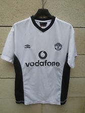 VINTAGE Maillot MANCHESTER UNITED shirt UMBRO blanc collection trikot football S