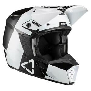Leatt 1021000241 Moto 3.5 V21 Off-Road Motorcycle Full-Face Helmet B/W, Small