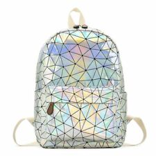 Women Laser Hologram Travel Backpack Purse Geometric Tote laptop Bags Schoolbag
