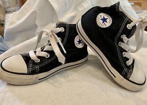 CONVERSE Chuck Taylor All Star Black Hi Tops Baby Toddler Size 8 EUC