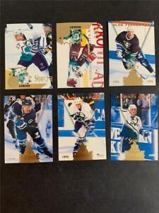 1994/95 Select Anaheim Mighty Ducks Team Set 6 Cards