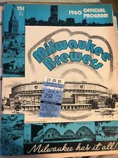 Chicago White Sox Vs Milwaukee Brewers 7-20-1980 Great Shape W/ Ticket