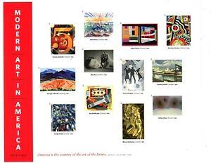 MODERN ART IN AMERICA MNH Sheet of 12 Different Designs Scott's 4748 (Scarce)