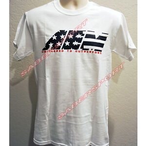"""""""IN STOCK"""" AUTHENTIC AEM APPAREL STAR & STRIPES T-SHIRT WHITE - SIZE- XXX-LARGE"""