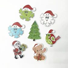 25pcs Christmas Wooden buttons Sewing Scrapbooking Decoration Christmas 28-36mm