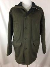 Eddie Bauer Olive Green Wool Blend Lined Chore Coat Jacket Mens Size Medium