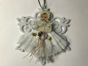 Paper doll Vintage Christmas ornament item# 39 Victorian snowflakes