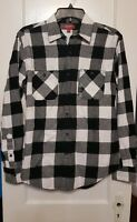 Arizona Jeans Co Men's Small Lightweight Flannel Shirt Black and White Plaid NWT