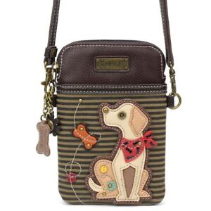 Chala Cell Phone Purse Crossbody Pleather Converts Labrador Lab Olive Green gift