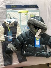 Baby Boy Ted Baker 0-3 Months Coat, Dungree Set And Gift Bag Bundle New