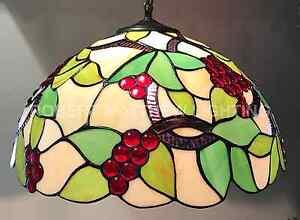 Grape Desighn Tiffany Pendant Shade 40cm RM27 GS05