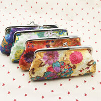 Vintage Lady Women Floral Wallet Clutch Purse Long Handbag Coin Bag Holder  t