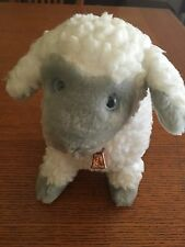"""Sheep Plush toy Walmart retired approximately 12"""" by 6"""" fleece fur and cow bell"""