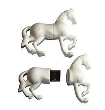Cheval Cheval blanc clé USB avec 8 Go Mémoire / clé usb Lecteur Flash NEUF